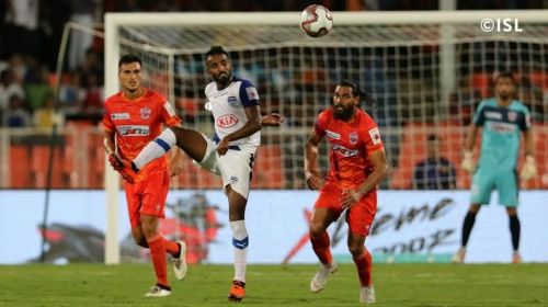 Harmanjot Khabra was once again industrious in the Blues' midfield [Image: ISL]