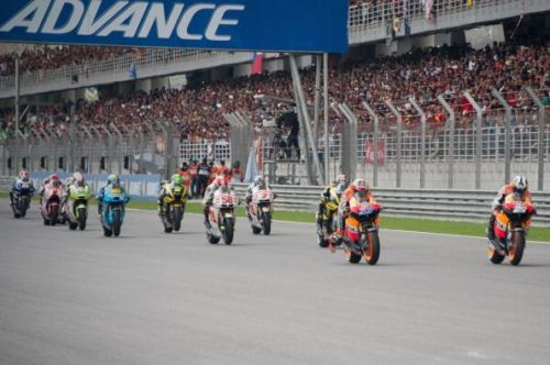 A MotoGP race at the Sepang International Circuit, Malaysia