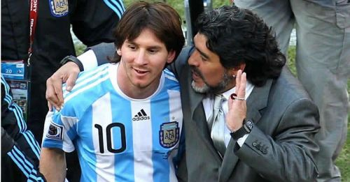 Maradona has now stated that he feels Messi is the greatest player in the world