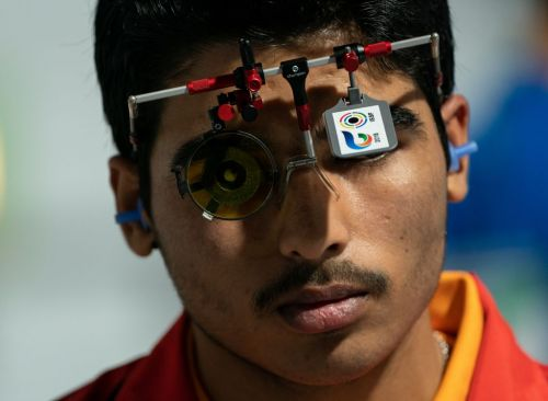 Saurabh Chaudhary of India looks calm and composed before his event at the Youth Olympics (Image Courtesy: IOC)