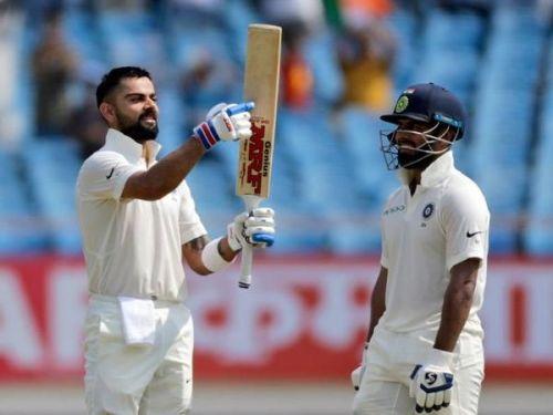 Virat Kohli went on to complete his 24th test century
