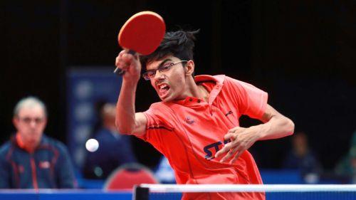 Manav Vikash Thakkar from India (Image Courtesy: ITTF)