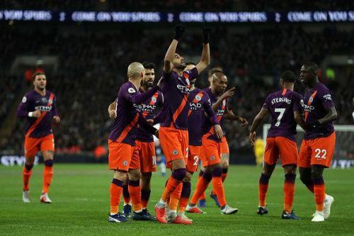 Riyad Mahrez dedicates his goal to his former chairman at Leicester City