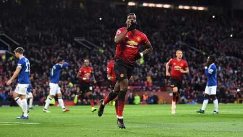 Paul Pogba scored off a rebound on his penalty to put them ahead at the break.