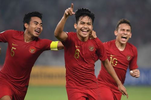 Witan Sulaeman's jersey number eight scored a brace against Taipei (Image Courtesy: Kompas Bola)