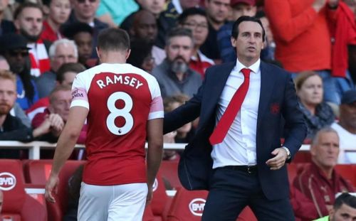 Image result for aaron ramsey subbed