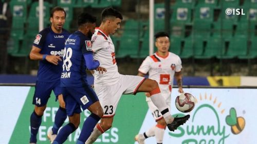Germanpreet Singh had a night to forget as Ahmed Jahouh and co. dominated the midfield [Image: Indian Super League]