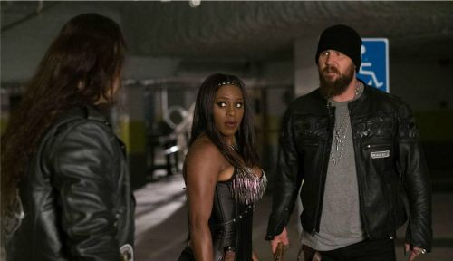 Naomi with Bo Dallas and Curtis Axel in The Marine 5