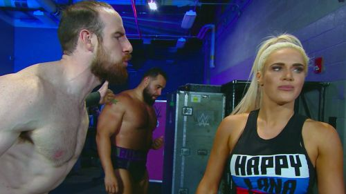 A provocative scene emrged between Lana and Aiden English in footage shown on last wee's SmackDown, but what was said next?