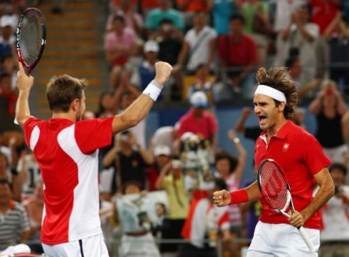 Federer's first and only Olympic gold medal