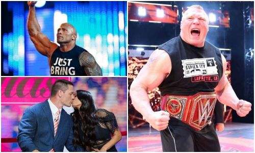 Brock Lesnar, The Rock and John Cena's relationship with Nikki Bella were big news items this week