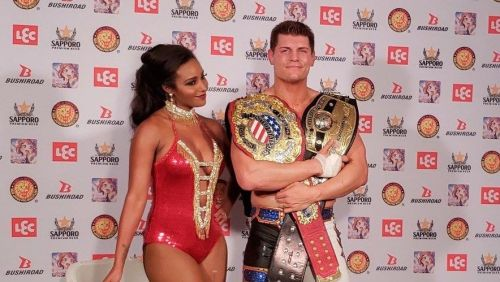 Cody with his wife Brandi Rhodes