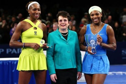 Billie-Jean King along with Serena Williams and Venus Williams