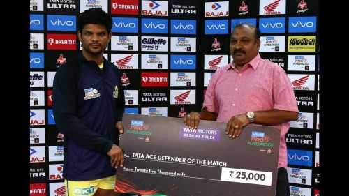 Amit Hooda won the Defender of the Match for his 6 tackle points.