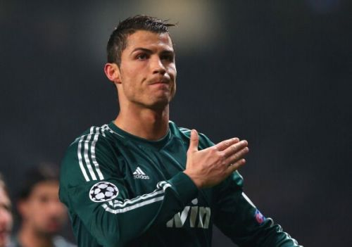 CR7 scored two goals in the round of sixteen between Real Madrid and United in 2013