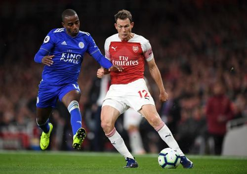Stephan Lichtsteiner was replaced by Xhaka in Arsenal's game against Leicester
