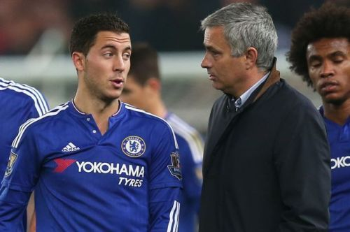 Hazard and Mourinho previously worked together at