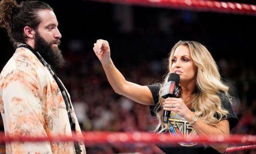 Trish Stratus confronting Elias a few weeks ago on Raw