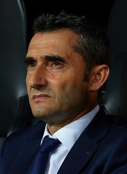 F.C. Barcelona's manager Ernesto Valverde.
