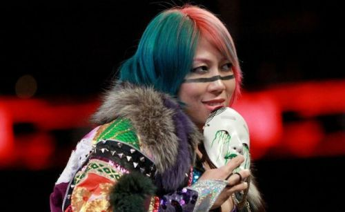 'The Empress' Asuka appears on Monday Night RAW.
