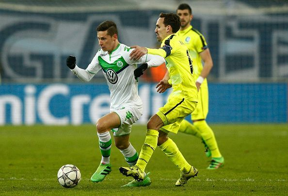 Draxler in Champions League action for Wolfsburg - one of the main reasons behind his desire to leave
