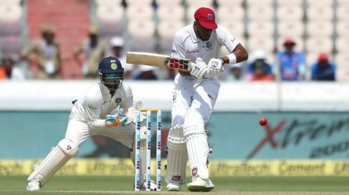 Image result for West Indies Day 1 batting at Hyderabad