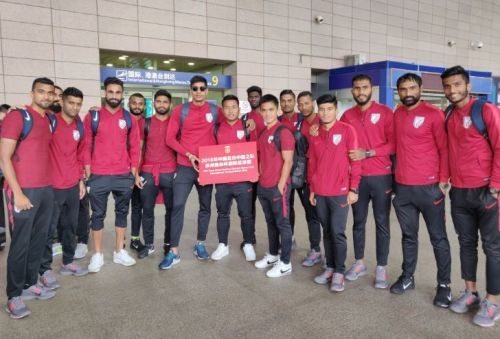 Indian National team lands in China