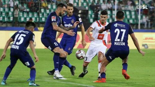 Chennai defense were caught sleeping twice as Goa scored three past their fabled backline [Image: Indian Super League]