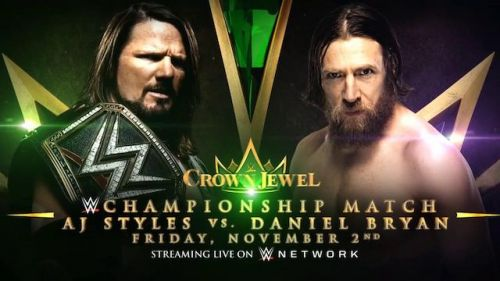 Styles and Bryan will battle for the WWE Title at Crown Jewel