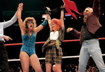 Image result for cyndi lauper wwe