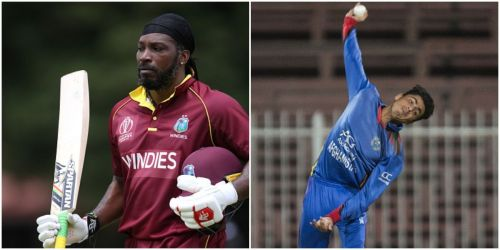 Chris Gayle and Mujeeb Ur Rahman will be up against each other