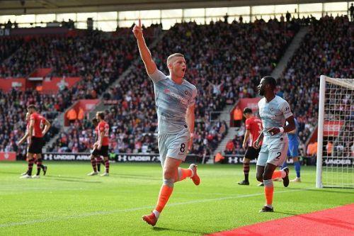 Ross Barkley celebrates his goal