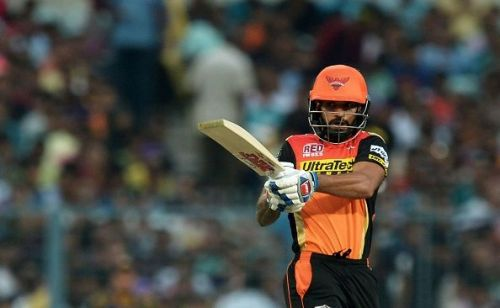 Dhawan is SRH's leading run-getter in the IPL