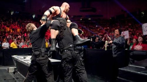 The Shield Triple Powerbombed Ryback