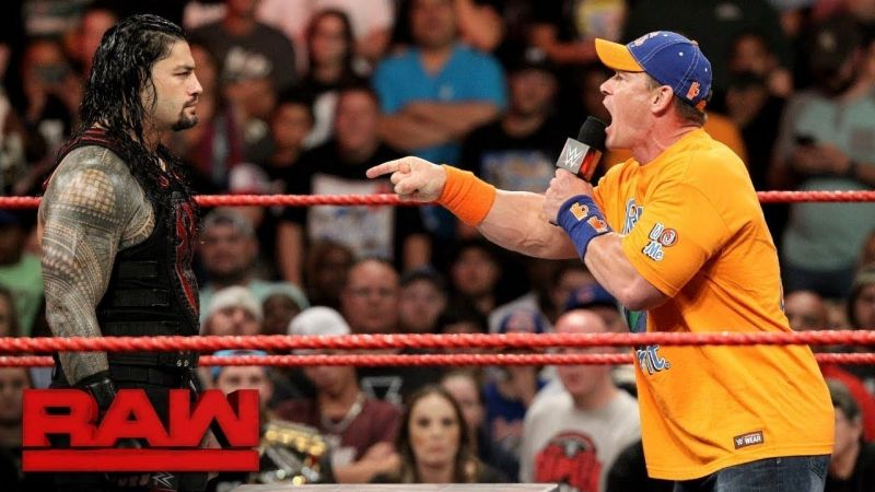 Reigns and Cena clashed in 2017