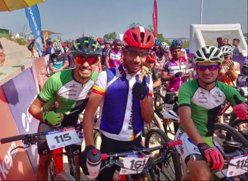 Kiran Kumar Raju, Trek Pro Rider at the 15th Edition of the MTB cycling championship, Pune