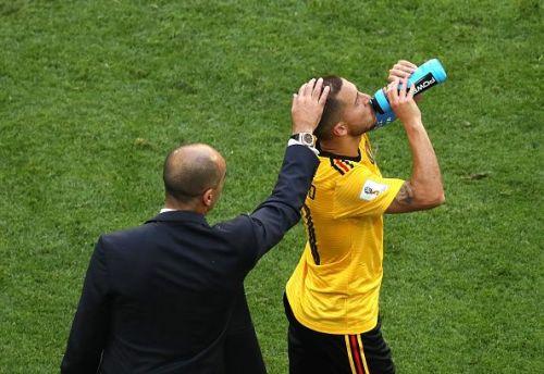 Martinez and Hazard share a good camaraderie in the Belgium national team