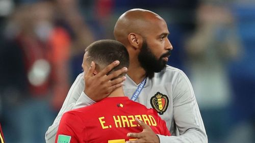 Eden Hazard and Thierry Henry - cropped