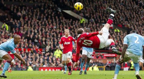 Who can forget Wayne Rooney's overhead kick against Manchester City?