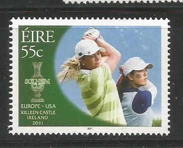 The stamp on Solheim Cup golf tournament held in Ireland in 2011