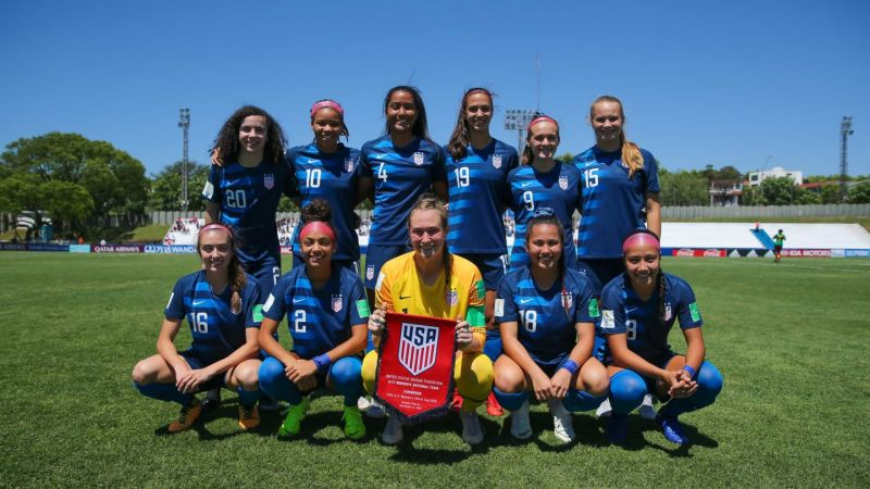 The United States team at the 2018 FIFA under-17 World cup (Image courtesy: FIFA)
