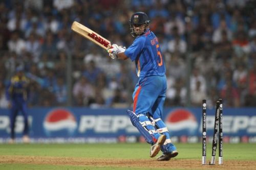 Gambhir was dismissed for 97 in the final of World Cup 2011