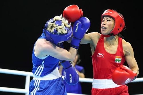 The legendary MC Mary Kom remained on course for an unprecedented sixth gold
