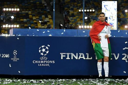 Real Madrid v Liverpool - UEFA Champions League Final. Ronaldo signed for 100 million after winning the Champions League.