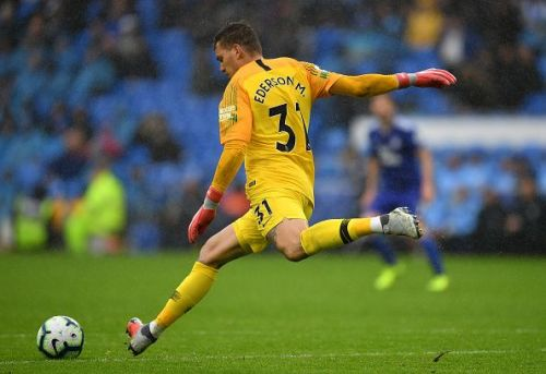 Ederson enables Manchester City to attack right from their own goal