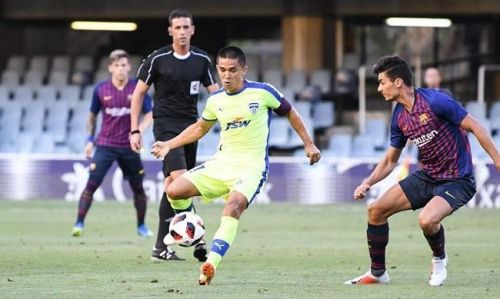 Bengaluru FC played Barcelona B in pre-season [Image: BFC Media]