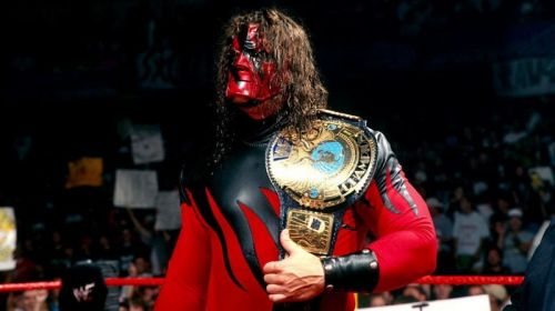 Kane with the WWF Championship