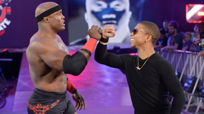 Lashley with his hypeman, Lio Rush.