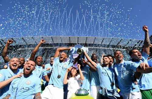 Manchester City won the Premier League last season with a record tally of 100 points