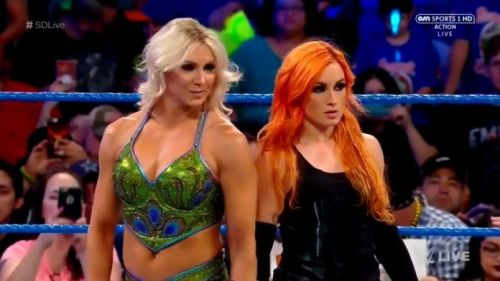 Charlotte had to step in as Becky's replacement
